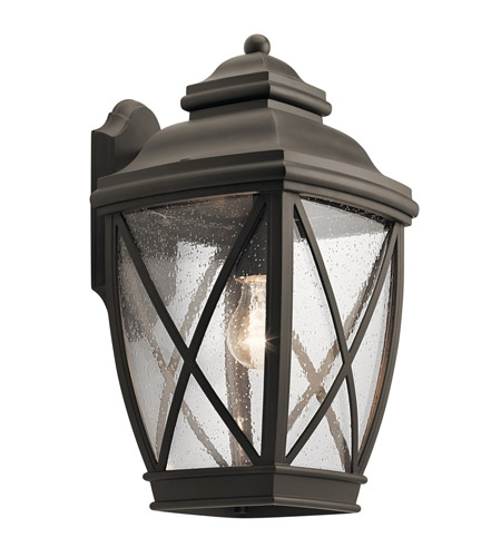 Kichler 49842oz Tangier 1 Light 17 Inch Olde Bronze Outdoor Wall Light Large Photo