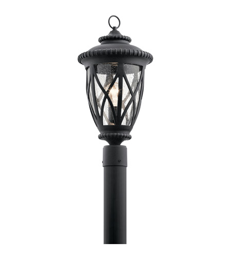 Kichler 49849BKT Admirals Cove 1 Light 21 inch Textured Black Outdoor Post Lantern photo