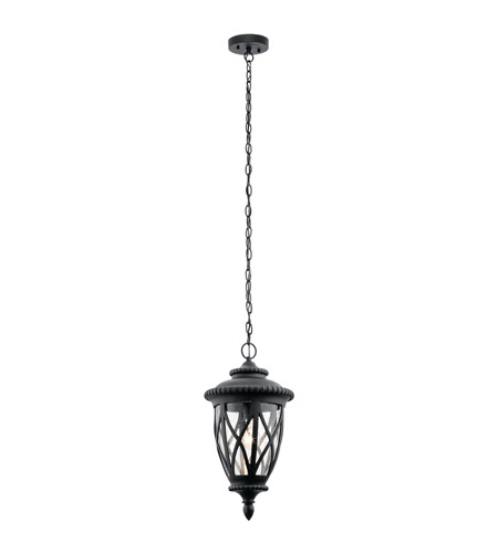 Kichler 49850BKT Admirals Cove 1 Light 10 inch Textured Black Outdoor Hanging Pendant photo thumbnail