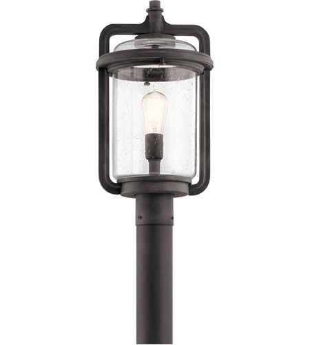 Kichler 49869wzc andover 1 light 20 inch weathered zinc outdoor kichler 49869wzc andover 1 light 20 inch weathered zinc outdoor post lantern mozeypictures Images