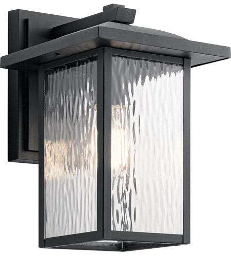 Kichler 49925BKT Capanna 1 Light 13 Inch Textured Black Outdoor Wall Light,  Medium