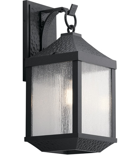 Kichler 49986DBK Springfield 1 Light 21 inch Distressed Black Outdoor Wall Mount, Large photo