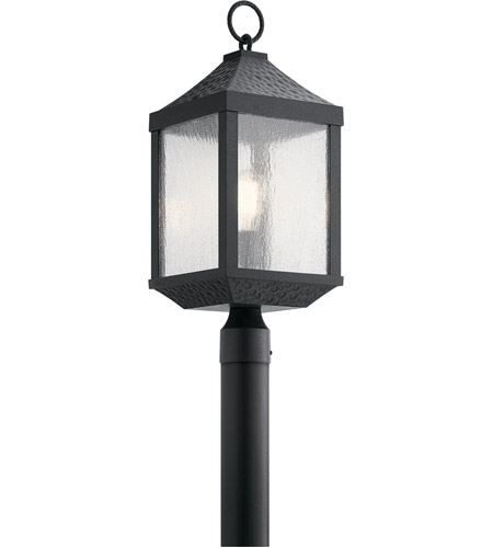 Kichler 49987DBK Springfield 1 Light 23 inch Distressed Black Outdoor Post Lantern photo thumbnail
