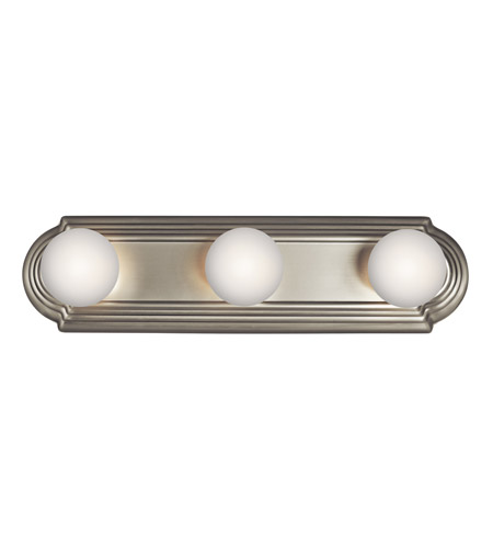 Kichler 5003NI Signature 3 Light 18 inch Brushed Nickel Bath Vanity Wall Light photo