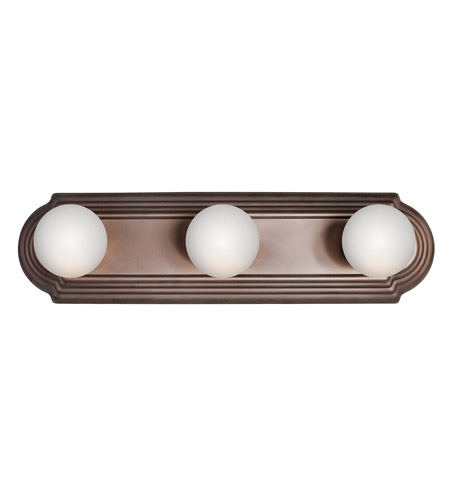Kichler 5003TZ Signature 3 Light 18 inch Tannery Bronze Bath Vanity Wall Light photo