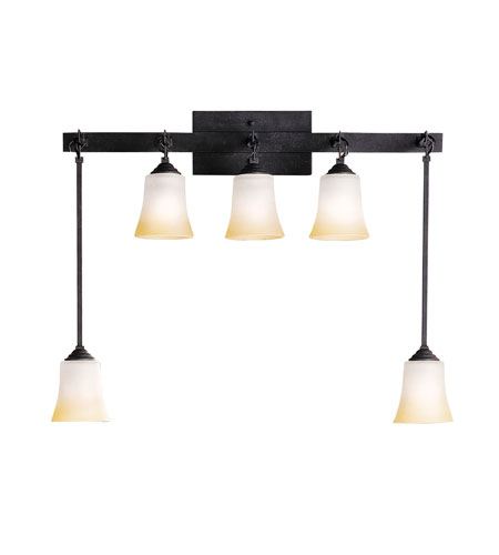 Black Bath Vanity Lights : Kichler Lighting Meredith 5 Light Bath Vanity in Distressed Black 5038DBK