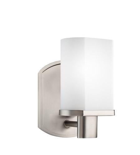 Kichler 5051NI Lege 1 Light 5 inch Brushed Nickel Bath Vanity Wall ...