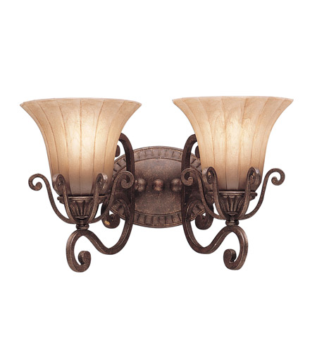 Kichler Lighting Cottage Grove 2 Light Bath Vanity in Carre Bronze 5056CZ photo