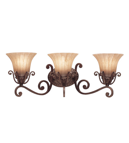 Kichler Lighting Cottage Grove 3 Light Bath Vanity in Carre Bronze 5057CZ photo