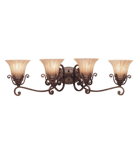 Kichler Lighting Cottage Grove 4 Light Bath Vanity in Carre Bronze 5058CZ photo