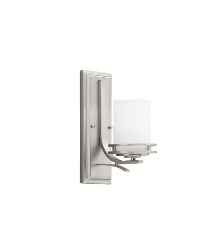 Kichler Lighting Hendrik 1 Light Wall Sconce in Brushed Nickel 5076NI