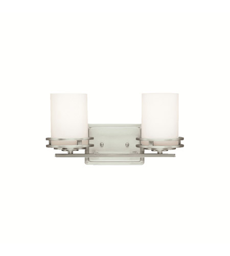 Kichler Lighting Hendrik 2 Light Bath Vanity in Brushed Nickel 5077NI