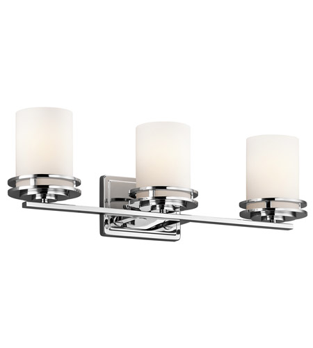 Kichler 5078CH Hendrik 3 Light 24 inch Chrome Bath Vanity Wall Light photo