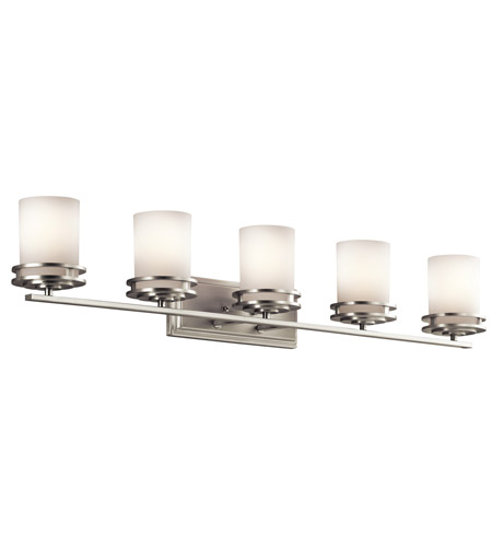 Kichler 5085NI Hendrik 5 Light 43 inch Brushed Nickel Wall Mt Bath 5 Arm Or More Wall Light photo