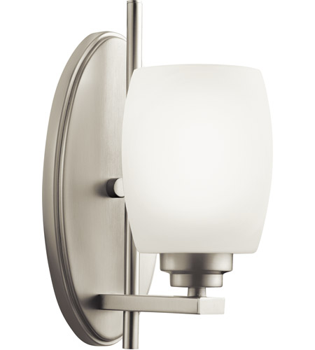 Kichler Lighting Eileen 1 Light Wall Sconce in Brushed Nickel 5096NI
