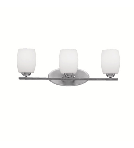Kichler 5098NI Eileen 3 Light 24 inch Brushed Nickel Bath Vanity Wall Light in Umber Etched Glass, Standard photo