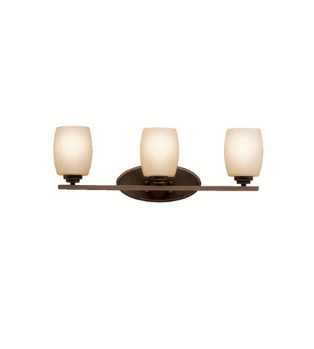 Kichler 5098OZ Eileen 3 Light 24 inch Olde Bronze Bath Vanity Wall Light in Umber Etched Glass, Standard photo