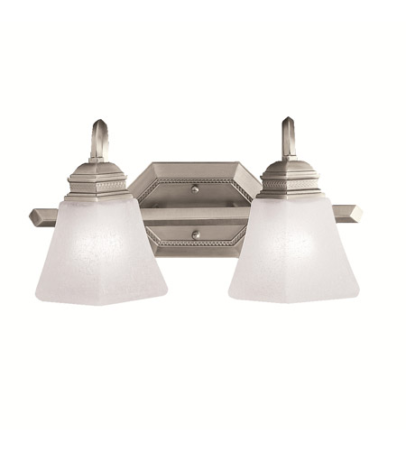 Kichler Lighting Polygon 2 Light Bath Vanity in Antique Pewter 5102AP