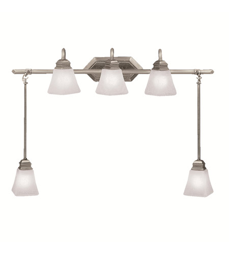 Kichler Lighting Polygon 5 Light Bath Vanity in Antique Pewter 5104AP photo