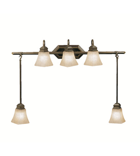 Kichler Lighting Polygon 5 Light Bath Vanity in Oiled Bronze 5104OLZ photo