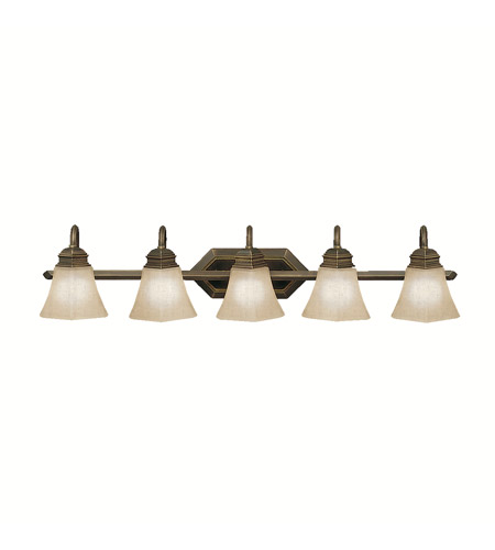Kichler Lighting Polygon 5 Light Bath Vanity in Oiled Bronze 5105OLZ photo