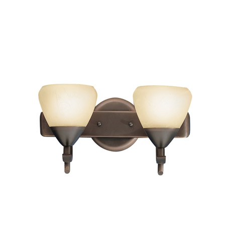 Kichler Lighting Olympia 2 Light Bath Vanity in Olde Bronze 5177OZ