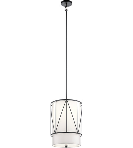 Kichler 52073BK Birkleigh 1 Light 12 inch Black Pendant Ceiling Light photo