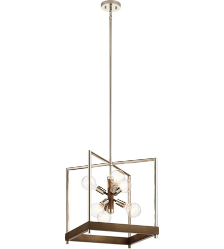 Kichler 52092AUB Tanis 6 Light 18 inch Auburn Stained Foyer Pendant Ceiling Light photo