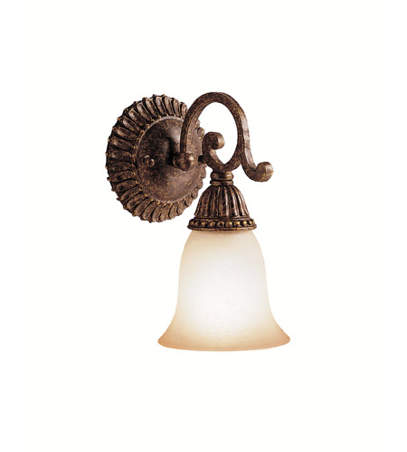Kichler Lighting Larissa 1 Light Wall Sconce in Tannery Bronze w/ Gold Accent 5214TZG