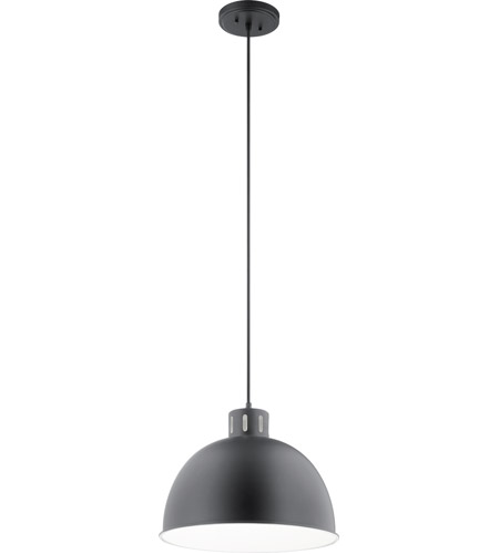 Kichler 52153BK Zailey 1 Light 16 inch Black Pendant Ceiling Light photo