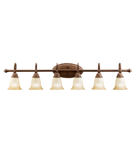 Kichler Lighting Larissa 6 Light Bath Vanity in Tannery Bronze w/ Gold Accent 5218TZG