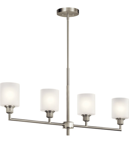 Kichler 52285NI Lynn Haven 4 Light 5 inch Brushed Nickel Chandelier Linear (Single) Ceiling Light photo thumbnail