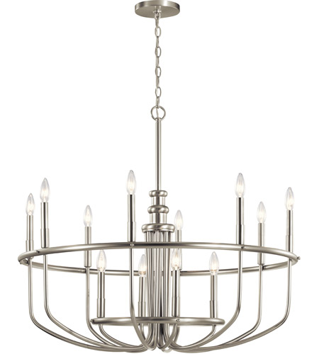 Kichler 52305NI Capitol Hill 12 Light 35 inch Brushed Nickel Chandelier Ceiling Light, Large photo