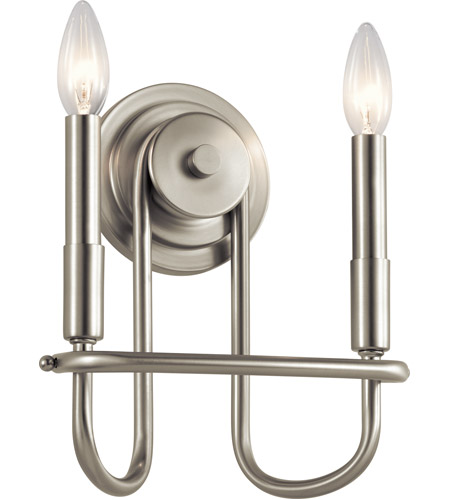 Kichler 52308NI Capitol Hill 2 Light 10 inch Brushed Nickel Wall Bracket Wall Light photo