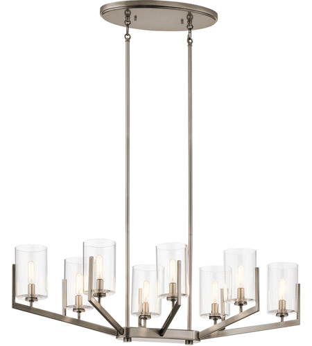 Kichler 52315CLP Nye 8 Light 17 inch Classic Pewter Chandelier Oval Pendant Ceiling Light photo