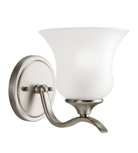 Kichler Lighting Wedgeport 1 Light Wall Sconce in Brushed Nickel 5284NI