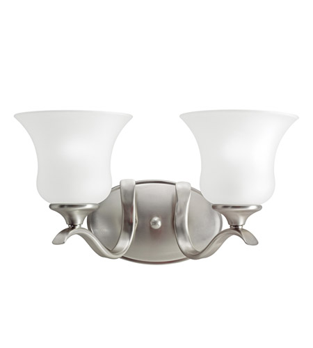 Kichler Lighting Wedgeport 2 Light Bath Vanity in Brushed Nickel 5285NI