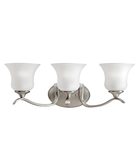 Kichler Lighting Wedgeport 3 Light Bath Vanity in Brushed Nickel 5286NI photo