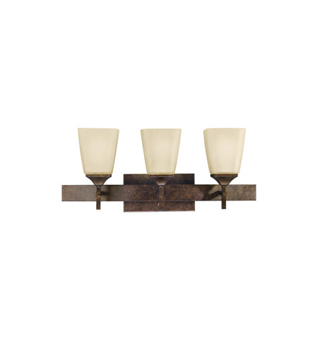 Kichler Lighting Souldern 3 Light Bath Vanity in Marbled Bronze 5316MBZ