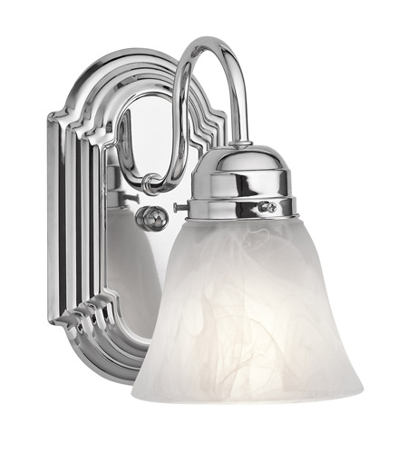 Kichler 5334CH Signature 1 Light 5 inch Chrome Bath Vanity Wall Light photo