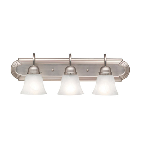 Kichler Lighting Signature 3 Light Bath Vanity in Brushed Nickel 5337NI photo