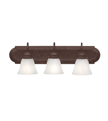 Kichler Lighting Signature 3 Light Bath Vanity in Tannery Bronze 5337TZ
