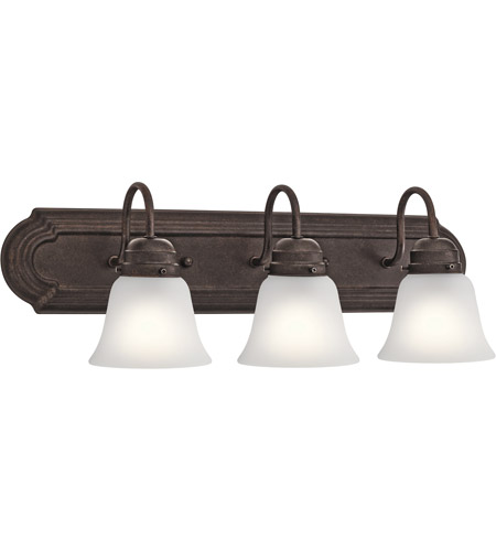 Signature 3 Light 24 Inch Tannery Bronze Vanity Light Wall Light 3 Arm