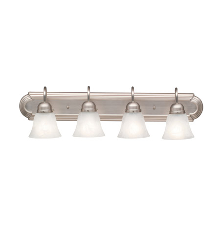 Kichler Lighting Signature 4 Light Bath Vanity in Brushed Nickel 5338NI photo