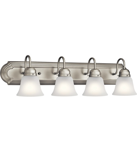 Kichler 5338NIS Signature 4 Light 30 inch Brushed Nickel Vanity Light Wall Light, 4 Arm  photo