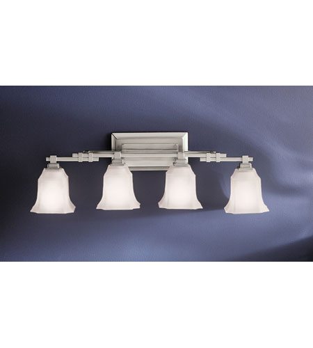 Kichler Lighting Silverton 4 Light Bath Vanity in Brushed Nickel 5345NI