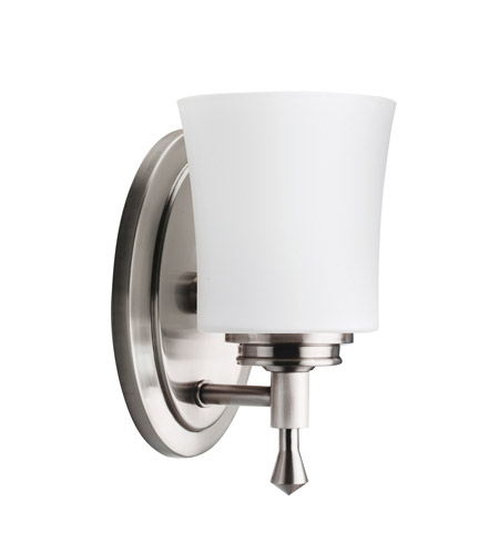 Kichler 5359NI Wharton 1 Light 5 inch Brushed Nickel Bath Vanity Wall Light photo