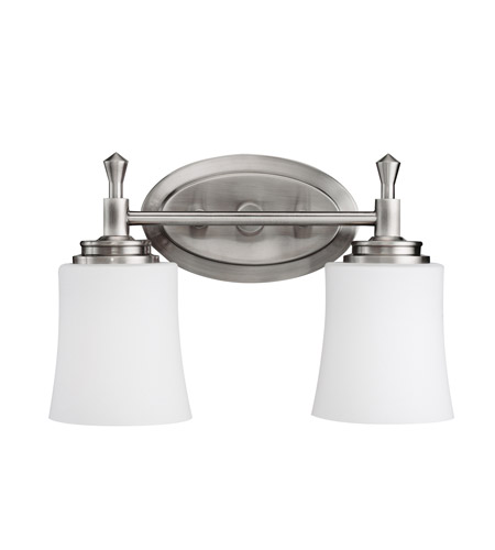 Kichler 5360NI Wharton 2 Light 14 inch Brushed Nickel Bath Vanity Wall Light photo
