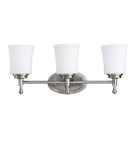 Kichler Lighting Wharton 3 Light Bath Vanity in Brushed Nickel 5361NI