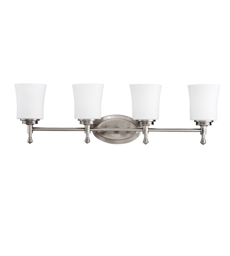 Kichler Lighting Wharton 4 Light Bath Vanity in Brushed Nickel 5362NI